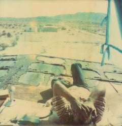 Wonder Valley View (The Girl behind the White Picket Fence) - Polaroid