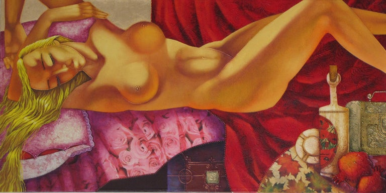 Stefano Georges Abstract Painting - She Is Dreaming