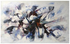 LOVE KNOT - Stefano Iannone Italian abstract oil on canvas painting