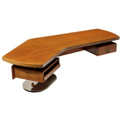 Stefano Mastuzzi Boomerang Desk 'Zero' in Walnut