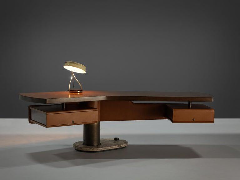 Stefano Mastuzzi Boomerang Desk 'Zero' in Walnut 6