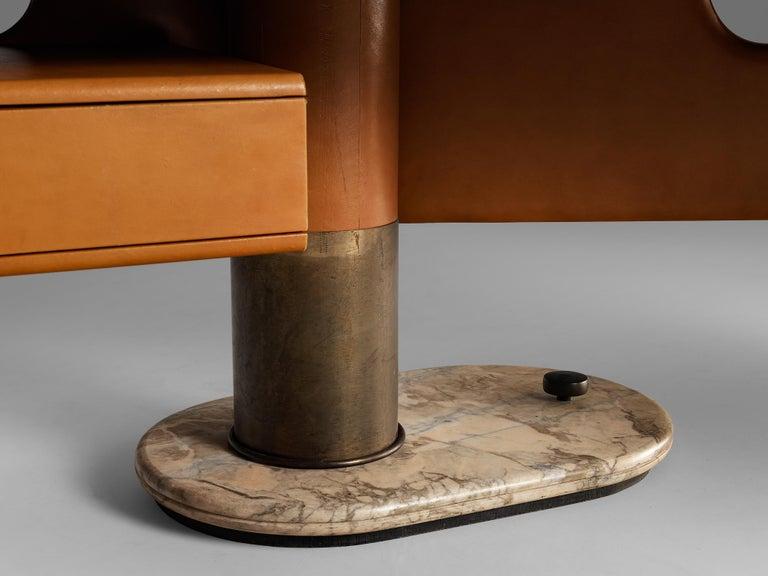 Mid-Century Modern Stefano Mastuzzi Boomerang Desk 'Zero' in Walnut
