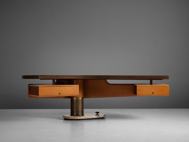 Italian Stefano Mastuzzi Boomerang Desk 'Zero' in Walnut