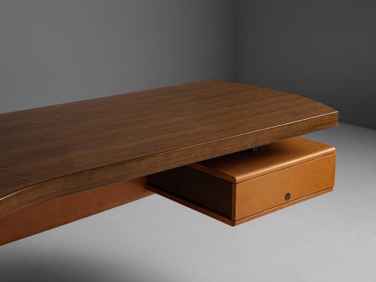 Stefano Mastuzzi Boomerang Desk 'Zero' in Walnut 1