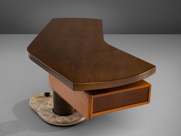 Stefano Mastuzzi Boomerang Desk 'Zero' in Walnut 3