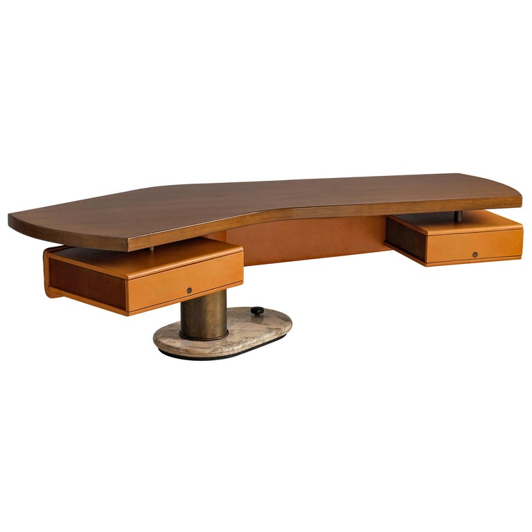 Stefano Mastuzzi Boomerang Desk 'Zero' in Walnut