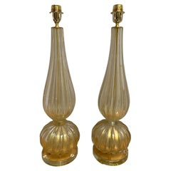 Stefano TOSO, Pair of Murano Table Lamps, 1990