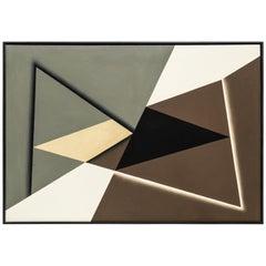 "Steffen Jørgensen Oil Painting ""Tre trekanter i konfiguration"""