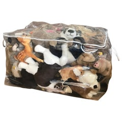 Steiff Collection 51 Plush Animals or Conceptual Art Ottoman