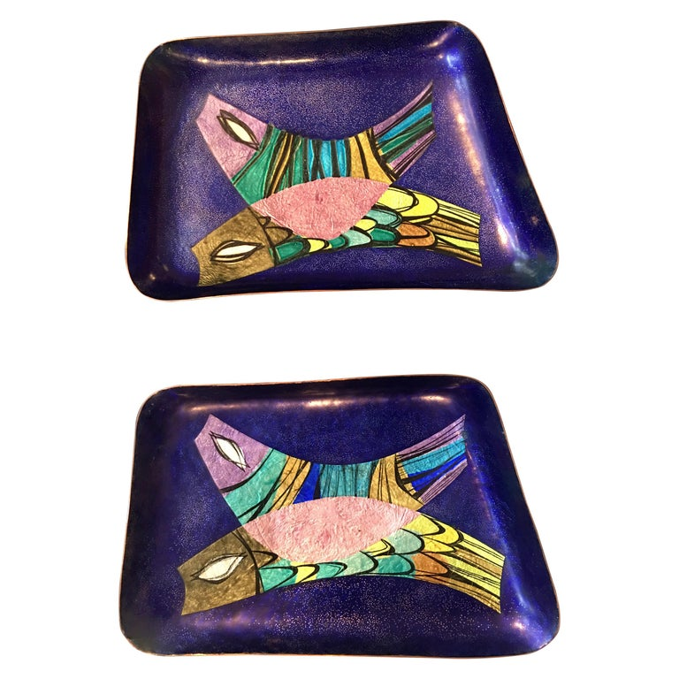 Steinbock Email Austrian Enamel Fish Dishes