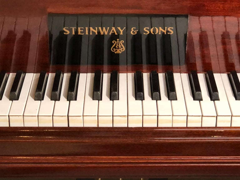 Steinway Model B Classic Grand Piano 1901 in a Refinished Mahogany Case For Sale 3