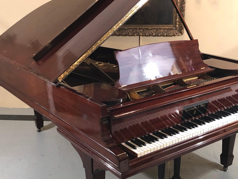 Louis XV Steinway Model B Classic Grand Piano 1901 in a Refinished Mahogany Case For Sale