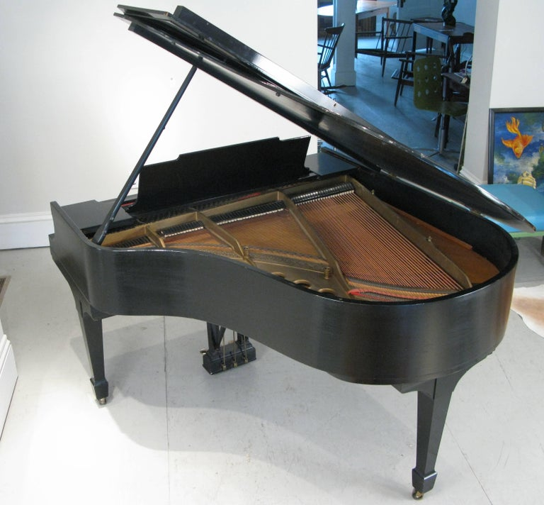 American Steinway & Sons 1912 Model M Ebony Piano For Sale