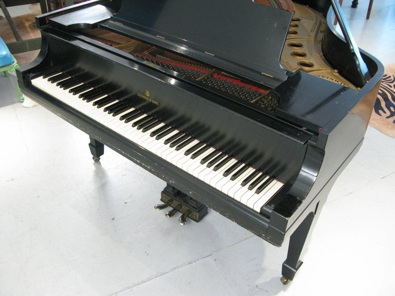 Steinway & Sons 1912 Model M Ebony Piano For Sale 3