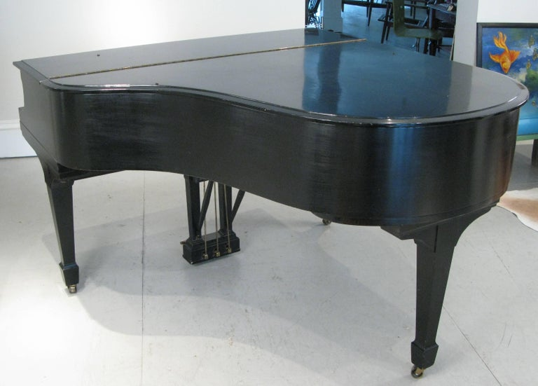 Steinway & Sons 1912 Model M Ebony Piano For Sale 4
