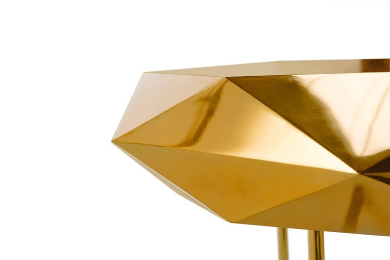 Indian Stella Coffee Table Medium Gold by Nika Zupanc for Scarlet Splendour For Sale