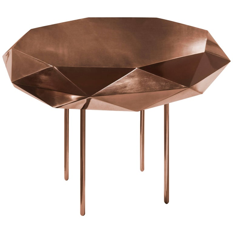 Stella Coffee Table Medium Rose by Nika Zupanc for Scarlet Splendour For Sale