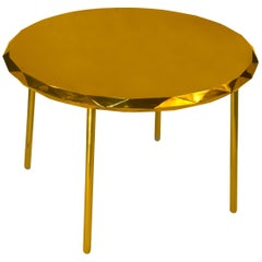 Stella Dining Table Gold by Nika Zupanc