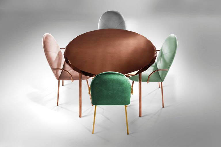 Indian Stella Dining Table Rose Gold by Nika Zupanc For Sale