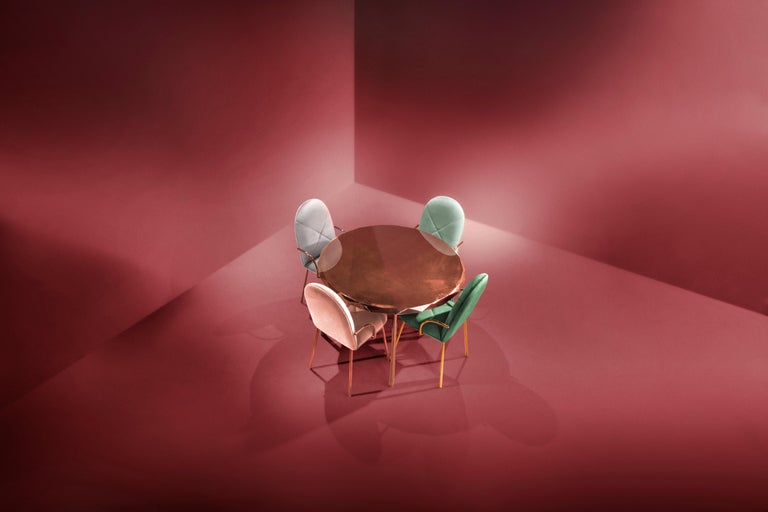 Cast Stella Dining Table Rose Gold by Nika Zupanc For Sale