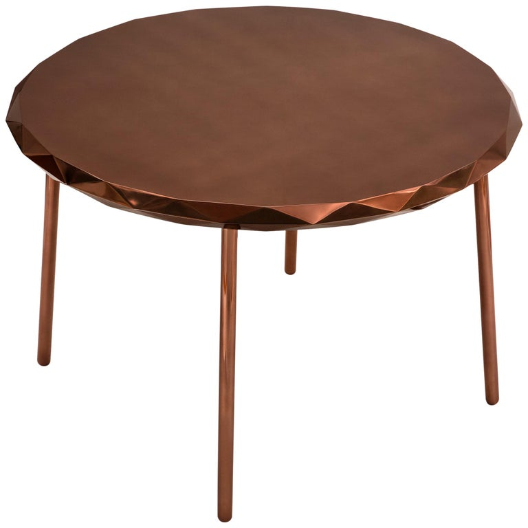 Stella Dining Table Rose Gold by Nika Zupanc For Sale