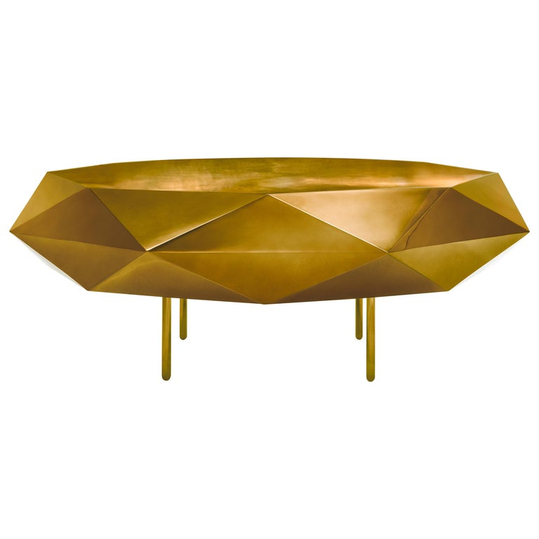 Stella Large Coffee Table Gold by Nika Zupanc For Sale