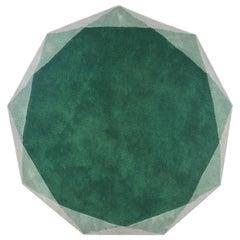 Stella Large Diamond Green and Gray Rug by Nika Zupanc