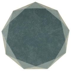 Stella Large Diamond Mint Green and Gray Rug by Nika Zupanc