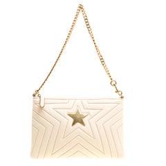 Stella McCartney Beige Faux Leather Stella Star Clutch