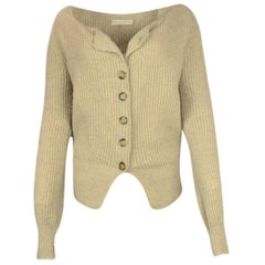 Stella McCartney Beige Knit Cashmere Cardigan Sweater sz IT38
