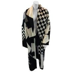 Stella McCartney Black and White Wool Cardigan