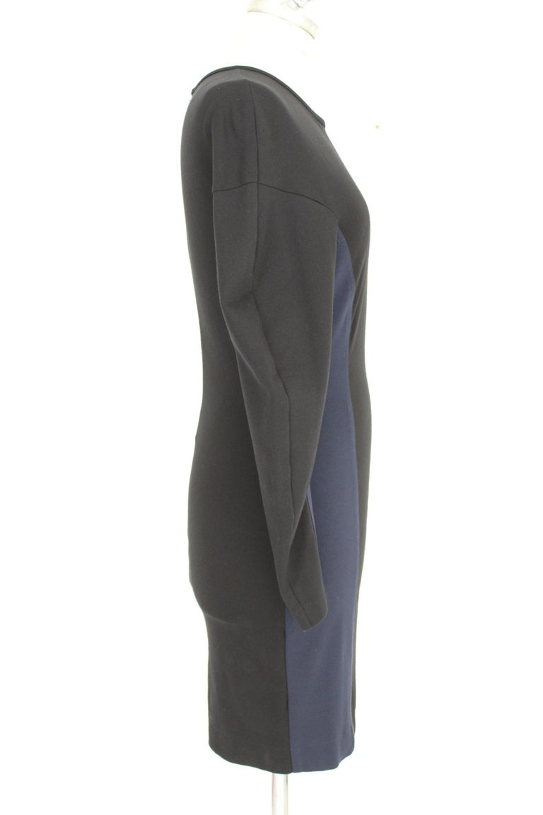 Stella McCartney Black Blue Stretch Sheath Party Dress  In Excellent Condition For Sale In Brindisi, Bt