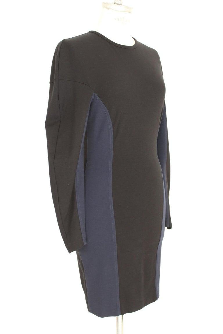 Women's Stella McCartney Black Blue Stretch Sheath Party Dress  For Sale