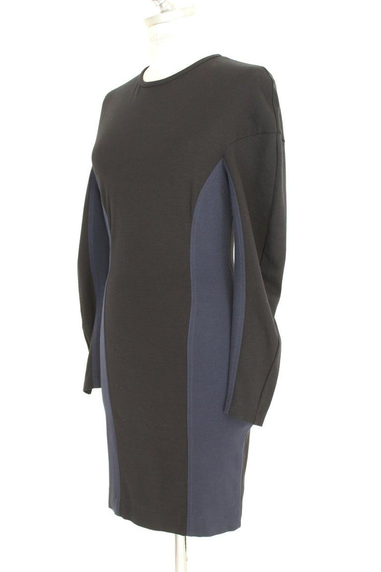 Stella McCartney Black Blue Stretch Sheath Party Dress  For Sale 1