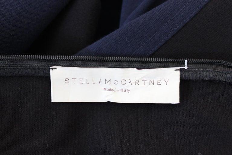 Stella McCartney Black Blue Stretch Sheath Party Dress  For Sale 2