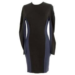 Stella McCartney Black Blue Stretch Sheath Party Dress