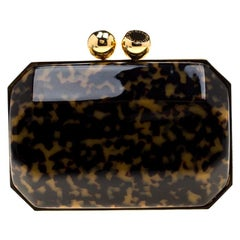 Stella McCartney Black/Brown Plexiglass Lucia Clutch
