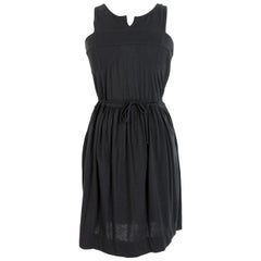 Stella McCartney Black Cotton Lbd Sleeveless Sheath Dress