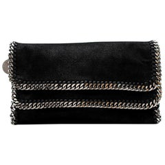 Stella McCartney Black Falabella Flap Clutch