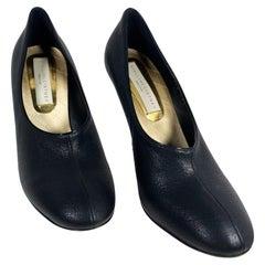 Stella McCartney Black (Faux) Leather Heels