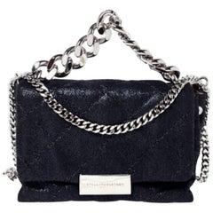 Stella McCartney Black Faux Leather Mini Beckett Shoulder Bag