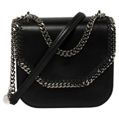 Stella McCartney Black Faux Leather Mini Falabella Box Shoulder Bag
