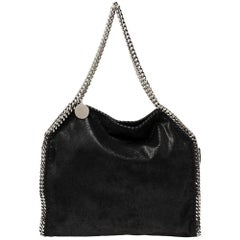 Stella McCartney Black Faux Leather Small Falabella Tote