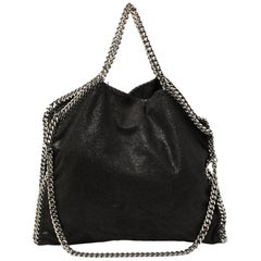 Stella McCartney Black Faux Suede Small Falabella Tote