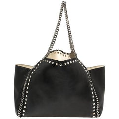 Stella McCartney Black Leather Falabella Tote Bag