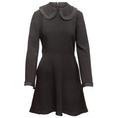 Stella McCartney Black Long Sleeve Peter Pan Collar Dress