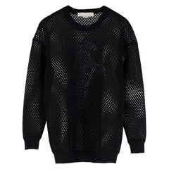 Stella McCartney Black Mesh Neoprene Horse Print Jumper  estimated size XS