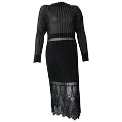 Stella McCartney Black Midi Dress