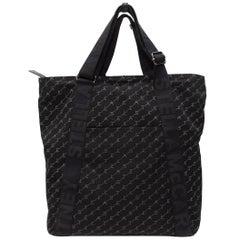 Stella McCartney Black Monogram Nylon Tote Bag