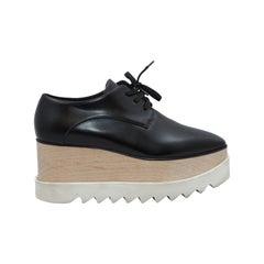 Stella McCartney Black Platform Oxfords